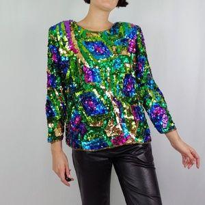 80's sequin blouse